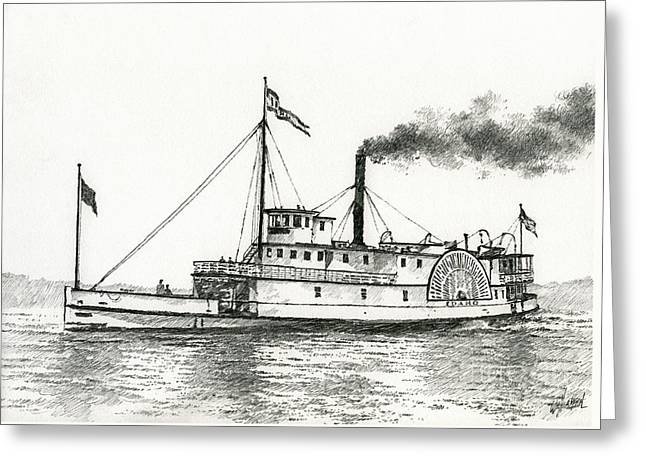 Seattle Waterfront Greeting Cards Greeting Cards - Steamboat IDAHO Greeting Card by James Williamson
