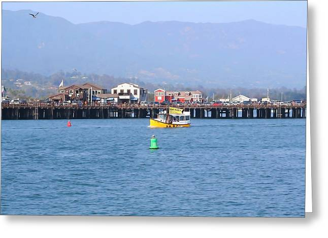 Santa Barbara Pier Greeting Cards - Stearns Wharf Greeting Card by Art Block Collections