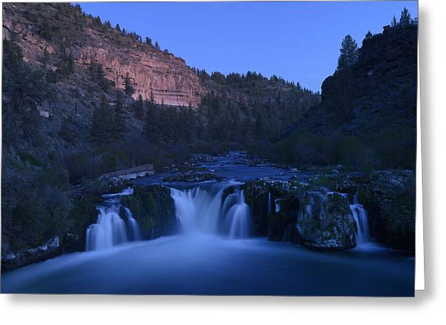 Deschutes River Greeting Cards - Steehead Falls Greeting Card by Christian Heeb