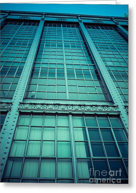 Glass Building Greeting Cards - Steel and Glass Greeting Card by Edward Fielding