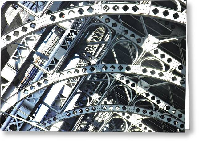 Sarah Loft Photographs Greeting Cards - Steel Arches Greeting Card by Sarah Loft