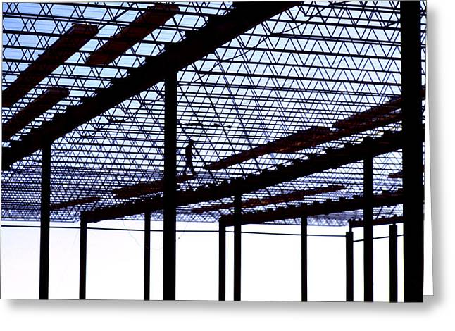 Steel Construction Greeting Cards - Steel Art Greeting Card by Jerry McElroy