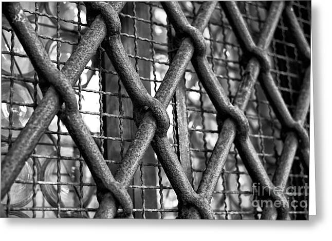 Steel: Iron Greeting Cards - Steel Bars in Venice Greeting Card by John Rizzuto