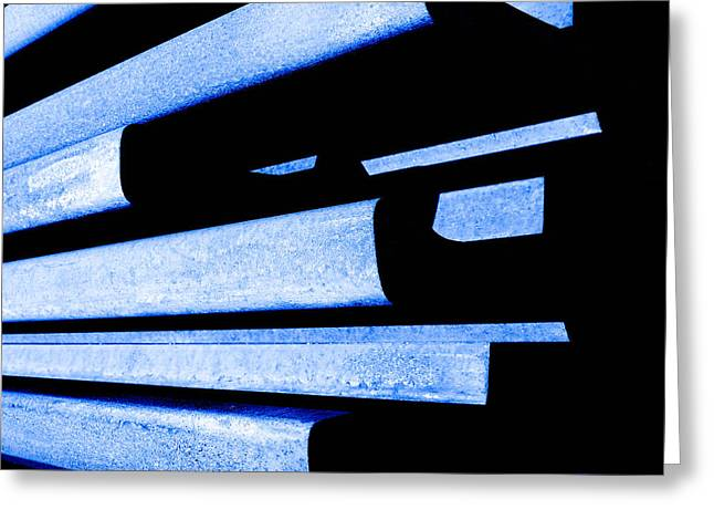 Outer Limits Greeting Cards - Steel Blue - Modern Abstract Greeting Card by Steven Milner