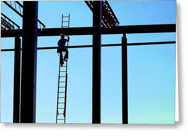 Steel Construction Greeting Cards - Steel Construction Greeting Card by Jerry McElroy