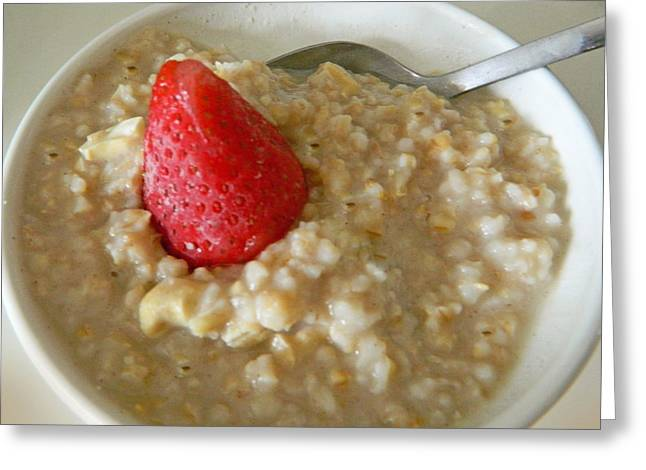 Cereal Digital Art Greeting Cards - Steel Cut Oatmeal - Yum Greeting Card by Emmy Marie Vickers