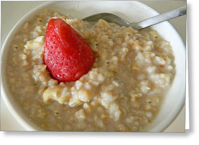 Cereal Digital Greeting Cards - Steel Cut Oatmeal - Yum Greeting Card by Emmy Marie Vickers