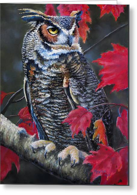 Horns Pastels Greeting Cards - Steel Eyed Autumn Gaze Greeting Card by Marcus Moller