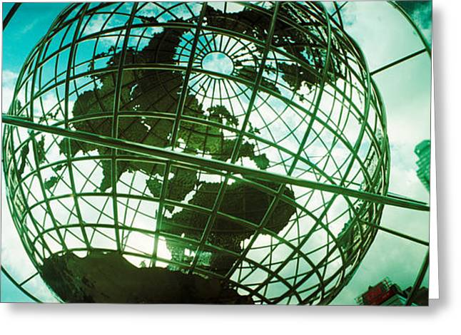 Trump Hotel Greeting Cards - Steel Globe At The Trump International Greeting Card by Panoramic Images