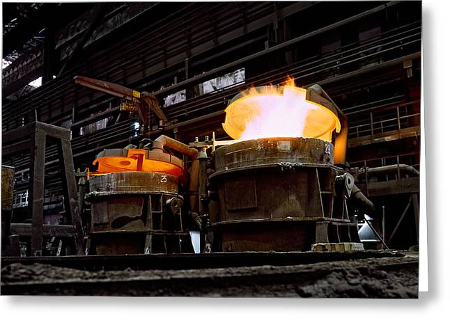 Process Greeting Cards - Steel Industry in Smederevo. Serbia Greeting Card by Juan Carlos Ferro Duque
