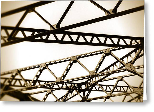 Steel Lines Greeting Card by Timothy Bischoff