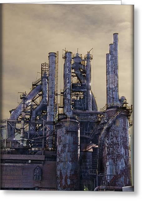 Pa Digital Art Greeting Cards - Steel Mill - Bethlehem Pa Greeting Card by Bill Cannon