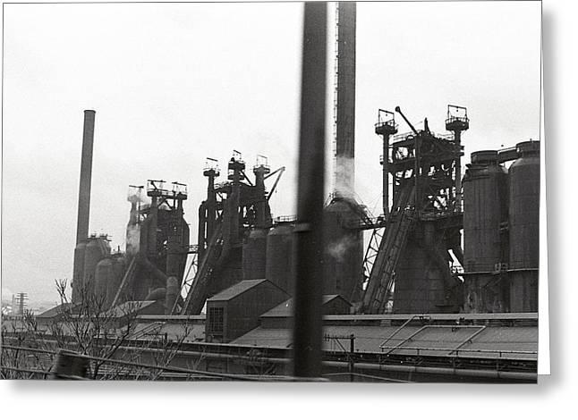 Peaceful Scenery Greeting Cards - Steel Mill - Pittsburgh - Building Greeting Card by Wayne Sheeler
