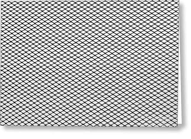 Wire Mobile Greeting Cards - Steel net  Greeting Card by Sinisa Botas