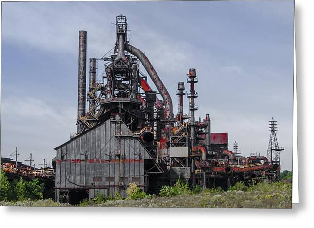 Steel Digital Art Greeting Cards - Steel Plant - Bethlehem Pa Greeting Card by Bill Cannon