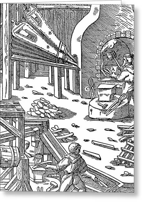 Steel Production Greeting Card by Universal History Archive/uig