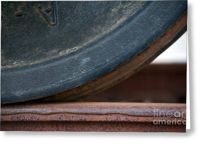 Boxcars Greeting Cards - Steel Wheel Greeting Card by Dan Holm
