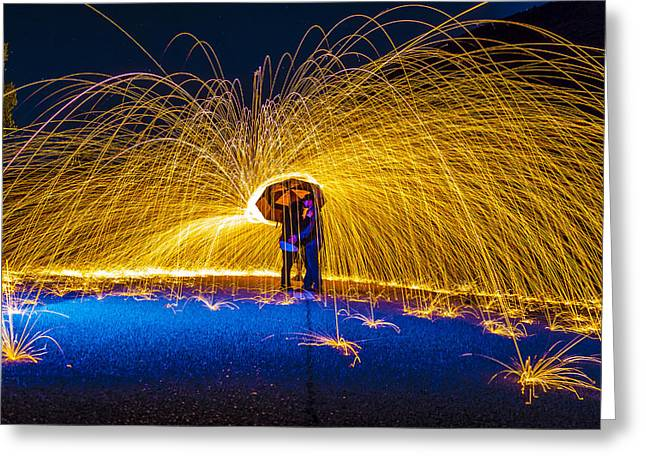 Aperture Greeting Cards - Steel Wool Embrace  Greeting Card by Cj Avery