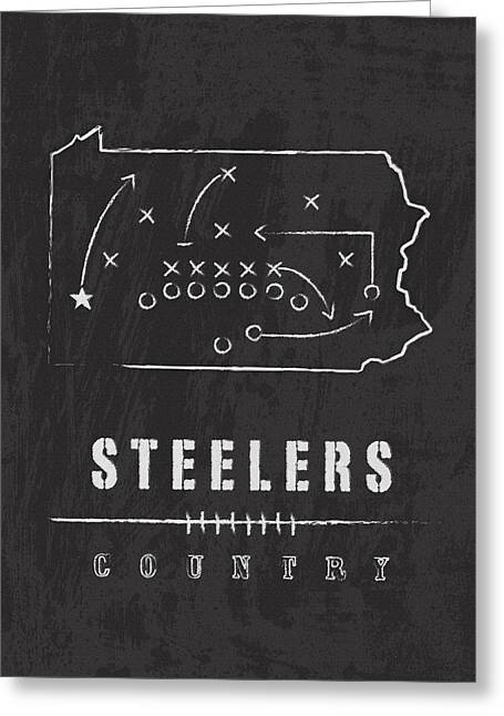 Pittsburgh Artwork. Greeting Cards - Steelers Country 2 Greeting Card by Damon Gray