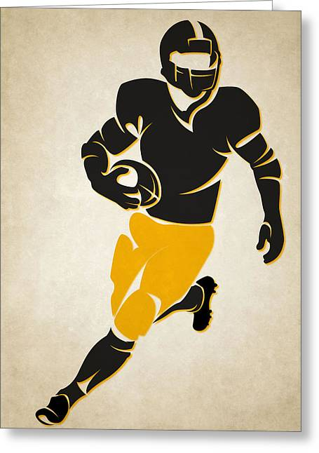 Pittsburgh Steelers Greeting Cards - Steelers Shadow Player Greeting Card by Joe Hamilton