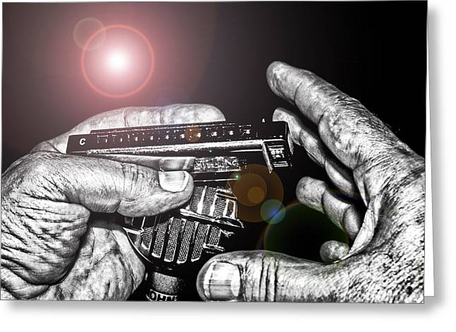 Mic Greeting Cards - Steelworkers Blues Greeting Card by Robert Frederick