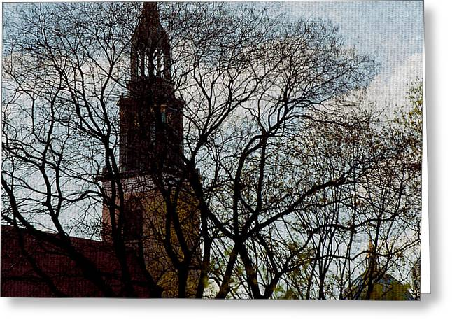 Steeple Mixed Media Greeting Cards - Steeple and Dome Greeting Card by Gottfried In Berlin