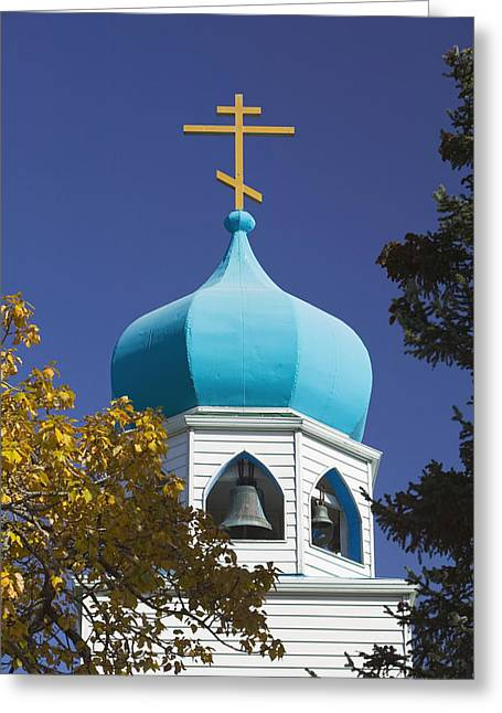 Kodiak Greeting Cards - Steeple Of Holy Resurrection Russian Greeting Card by Kevin Smith