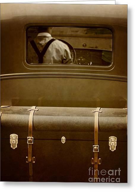 Suspenders Greeting Cards - Steerage Greeting Card by Margie Hurwich