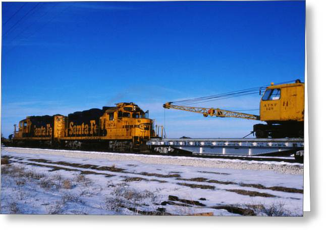 Change We Need Greeting Cards - Steet train at Zenith Kansas Greeting Card by David Stevenson