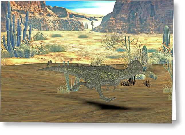 Stegoceras Dinosaur Greeting Card by Friedrich Saurer