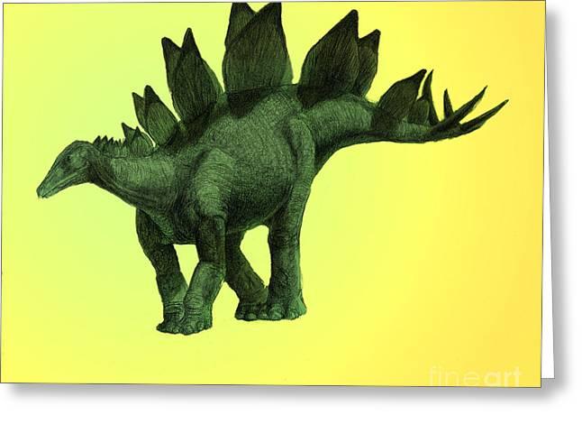 Stegosaurus Greeting Cards - Stegosaurus Greeting Card by Spencer Sutton