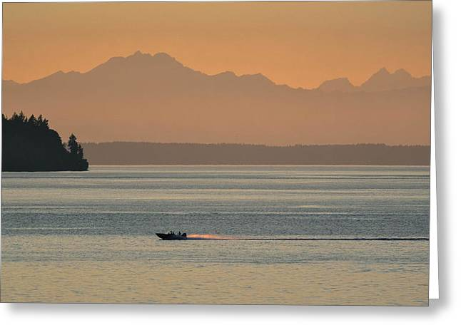 Steilacoom Greeting Cards - Steilacoom Sunset Greeting Card by Jody Partin