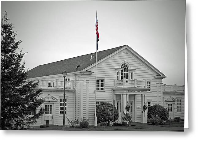 Steilacoom Greeting Cards - Steilacoom Town Hall Greeting Card by Roger Reeves  and Terrie Heslop