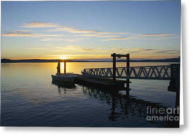 Steilacoom Greeting Cards - Steilacoom Wharf Greeting Card by Sean Griffin