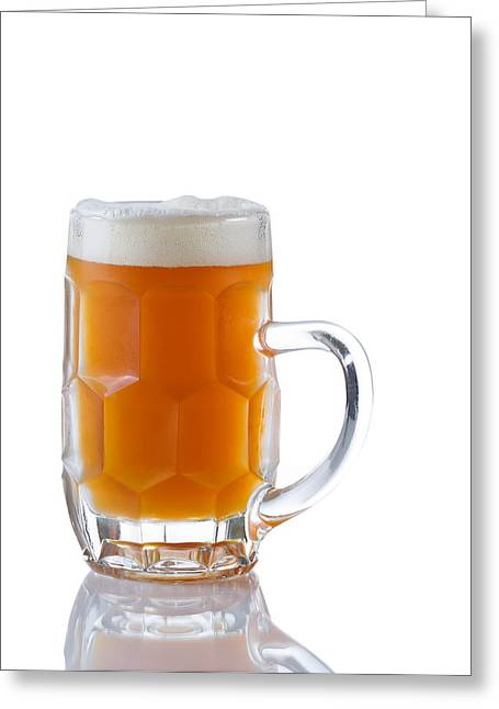 Amber Beer Greeting Cards - Stein filled with Amber Beer  Greeting Card by Tom  Baker