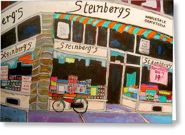 Litvack Greeting Cards - Steinberg Groceteria Montreal Memories Greeting Card by Michael Litvack