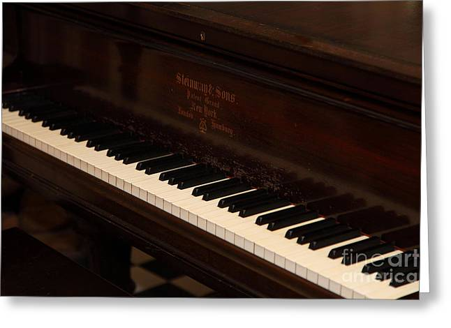 Wood Instruments Greeting Cards - Steinway and Sons Piano 5D21971 Greeting Card by Wingsdomain Art and Photography
