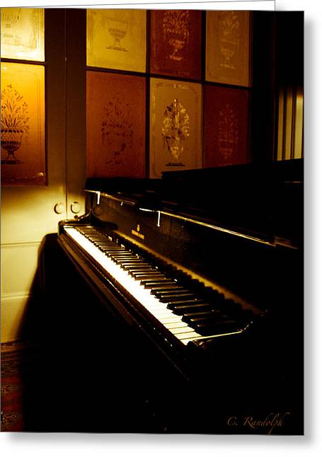 Steinway Greeting Card by Cheri Randolph