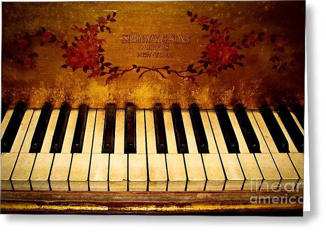 Original Photographs Greeting Cards - Steinway Golden Grand  Greeting Card by Colleen Kammerer