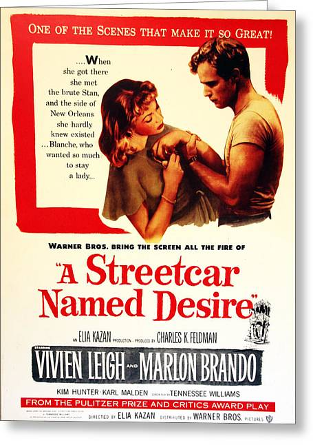 Marlon Brando Poster Greeting Cards - Stellaaaaa - A Streetcar Named Desire Greeting Card by Debbie Oppermann