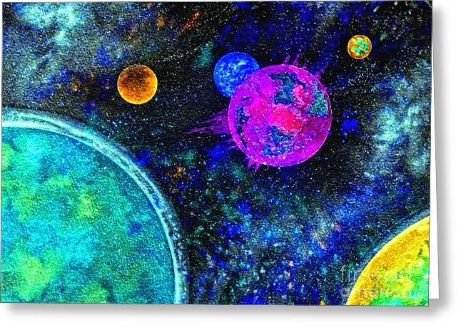 Stellar Flares Greeting Card by Bill Holkham
