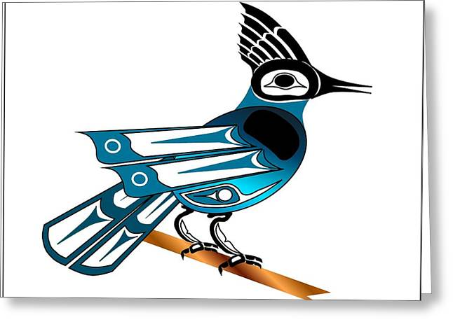 Stellar Drawings Greeting Cards - Stellar Jay Greeting Card by Fred Croydon