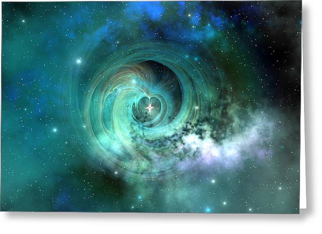 Portal Digital Greeting Cards - Stellar Matter Greeting Card by Corey Ford