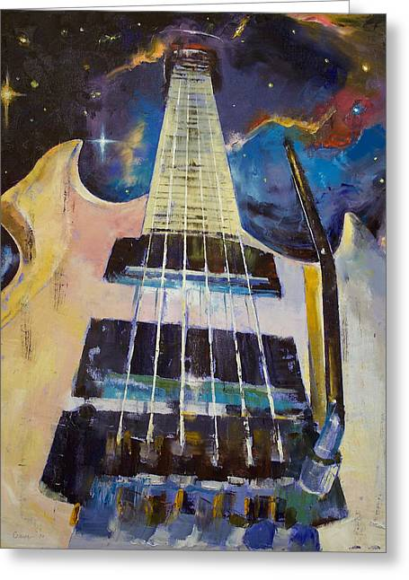 Stellar Paintings Greeting Cards - Stellar Rift Greeting Card by Michael Creese