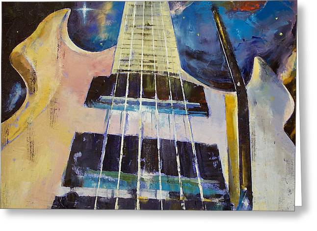 Stellar Rift Greeting Card by Michael Creese