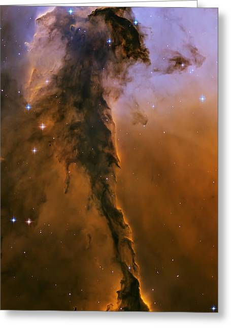 Stellar Greeting Cards - Stellar spire in the Eagle Nebula Greeting Card by Adam Romanowicz