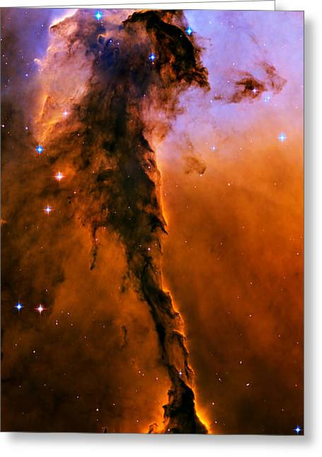 Astronomic Greeting Cards - Stellar Spire in the Eagle Nebula Greeting Card by Ricky Barnard