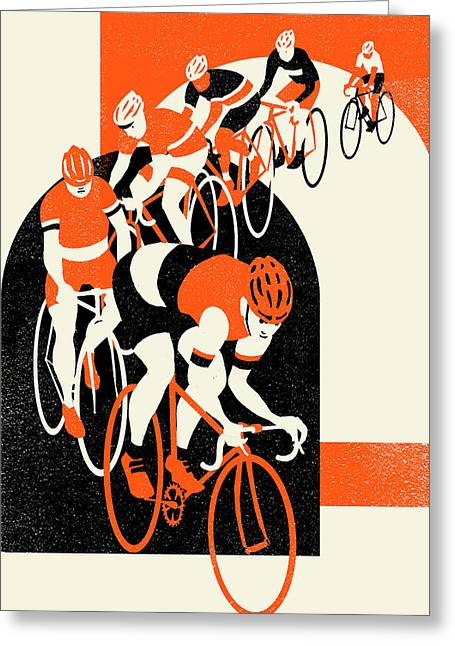 Bike Race Greeting Cards - Stelvio Greeting Card by Eliza Southwood