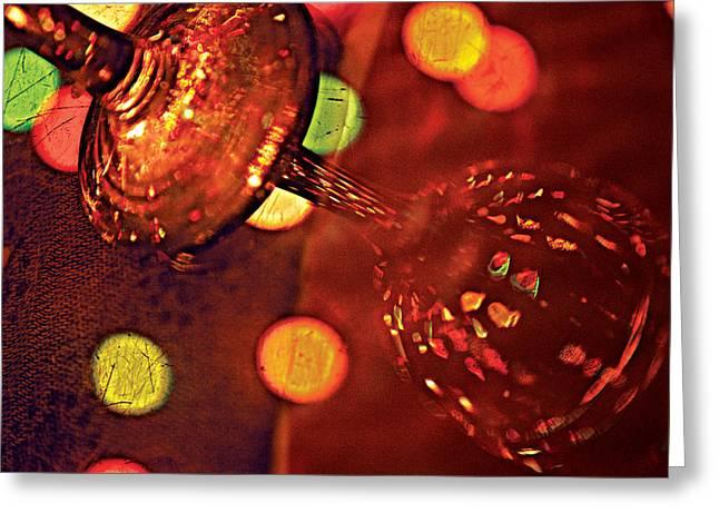 Wine Reflection Art Greeting Cards - Stem Light Greeting Card by David Davies