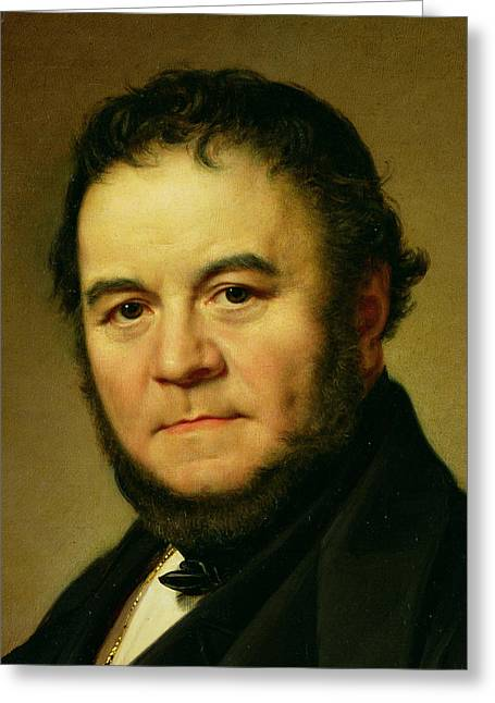 Novelist Greeting Cards - Stendhal Greeting Card by Johan Olaf Sodermark